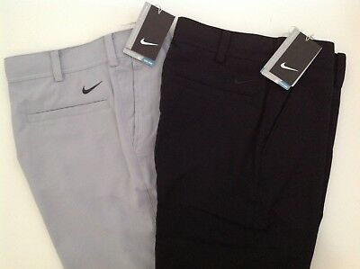 Boys Nike Golf Pants 541877 Dri Fit Solid Black or Gray Youth S M L New NWT