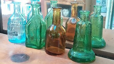 Lot of 4 collectible vintage/antique (?) bitters bottles, Root Bitters Cathedral