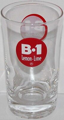 Vintage fountain glass B 1 LEMON LIME soda pop unused new old stock n-mint+ cond