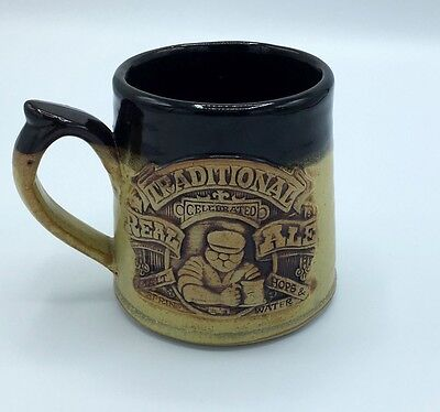 Vintage Traditional Real Ale Stoneware Mug With Raised Graphic Design Great Gift
