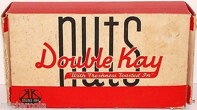 Vintage box DOUBLE KAY NUTS dated 1942 Kelling Nut Co people dining pictured