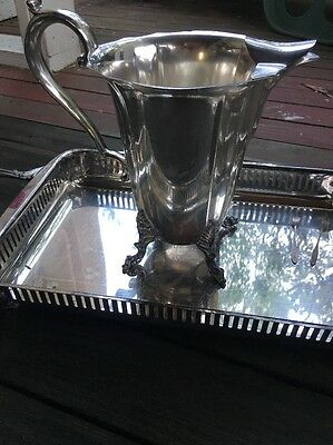 silver plated water pitcher