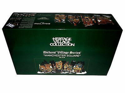 """Department 56 - """"Manchester Square - Set of 25 - Dickens' Village Series - 58301"""