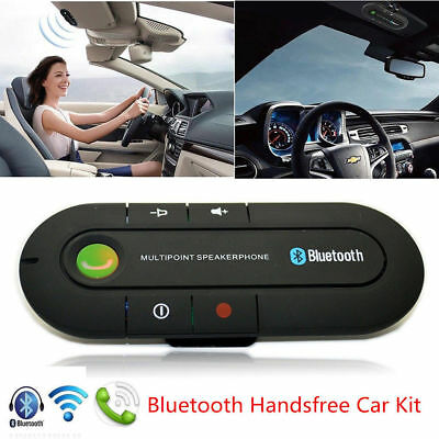 Bluetooth 4.1 Slim Magnetic Wireless Handsfree Car Kit Speaker Phone Visor Clip