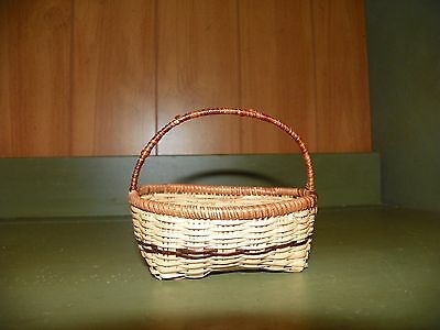 Small Shaped Antique/primitive Woven Basket N.c Estate Sale Find