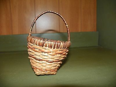 Small Antique/primitive Woven Basket N.c Estate Sale Find