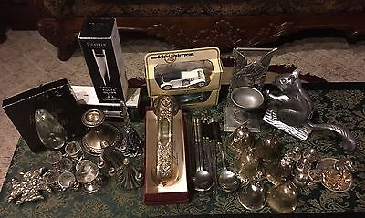 Lot Of Sterling Silver, Pewter, Gold Filled, Silver Plated And More Grab Bag