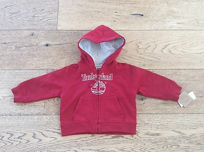 Timberland Baby Boys Red Hoodie - Size 12 Months - NWT
