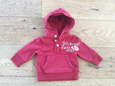 Country Road Baby Boys Red Button Hoodie -Size 3-6 Months - NWT