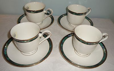 Lenox Kelly Lot of 4 Cups with Saucers Bone China Unused w/Tags