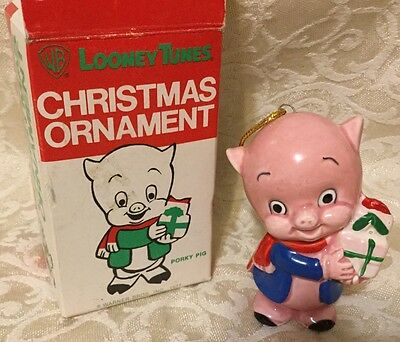 Vintage Looney Tunes Christmas Ornament Porky Pig Collectible Grossman Designs