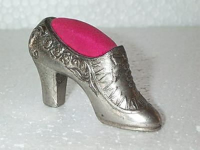 SLICK Vintage VICTORIAN Miniature Ladies SHOE PIN CUSHION Made n OCCUPIED JAPAN