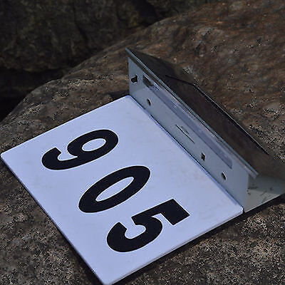 Stainless Steel Led Solar Powered House Door Number Outdoor Wall Paque Light Fs