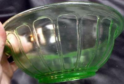 Green 'Vaseline' Mixing Bowl #1 - No Reserve