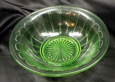 Green 'Vaseline' Mixing Bowl #2 - No Reserve