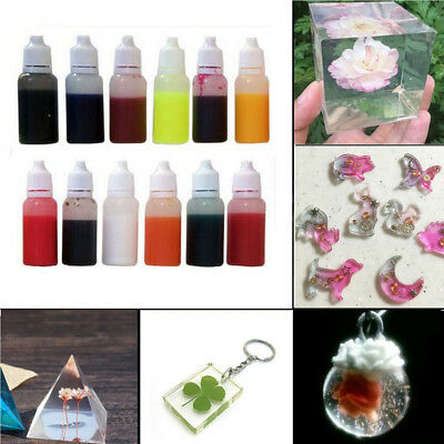 15 Colors 15ml Silicone Resin Pigment Dye Colorant DIY Jewelry Making Crafts
