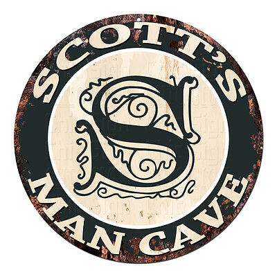 CPMC-0032 SCOTT'S MAN CAVE Rustic Chic Tin Sign Man Cave Decor Gift Ideas