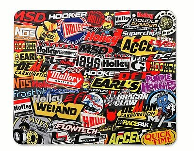 Holley Msd Weiand Accel Mallory Nos Hooker Mr Gasket Demon Sticker Mouse Mat Pad