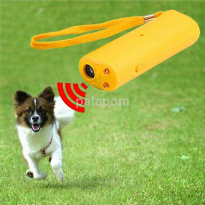 Utility Dog Training Repeller Control Trainer Ultrasonic Anti Barking Device CA