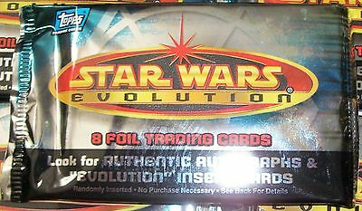 2001 Topps Star Wars Evolution sealed pack