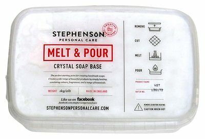 Stephenson's Melt and Pour Soap Base- PICK UP ONLY
