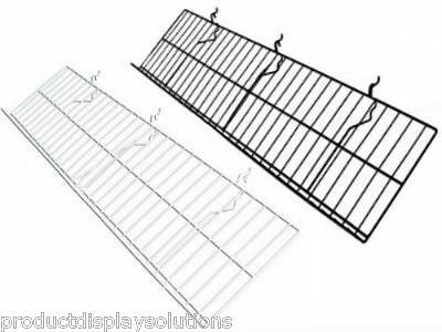 "Case of 5 | Slatwall Slanted Wire POP Shelf 12"" D x 46"" L 