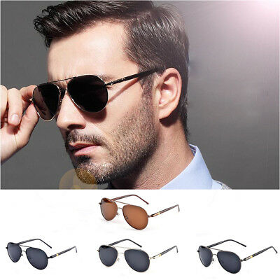 Men Women Vintage Polarized Sunglasses Driving Mirror Lens Glasses UV400 Fashion