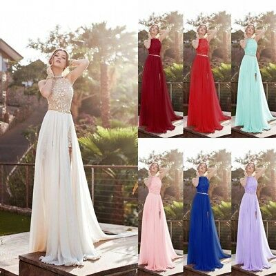 Long Chiffon Evening Dress Cocktail Gown Formal Party Prom Bridesmaid Dresses