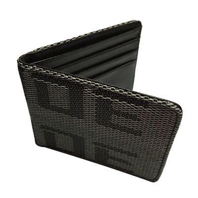Car Racing Bride Bifold Wallet Credit and Business cards Holder Black Gray