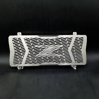 For Kawasaki Z650 2016-2017 Black Motorcycle Radiator Grille Guard Cover Chrome