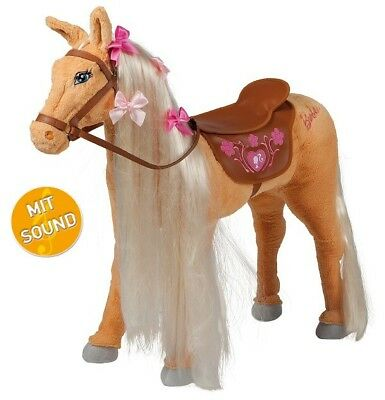 "HAPPY PEOPLE 58036 Barbies Pferd ""Tawny®"" Sound Pferd Reittier Spielpferd"