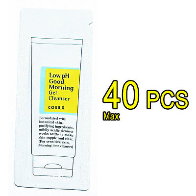 [COSRX Sample ] 1.2ml x Max 40 PCS Low pH Good Morning Gel Cleanser skin cleaner