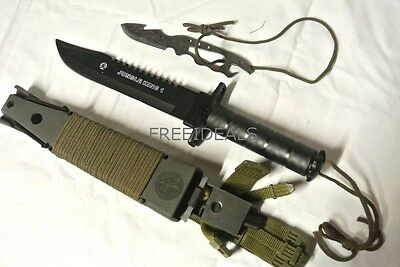 Military Survival Bowie Jungle Knife Multi Function LB