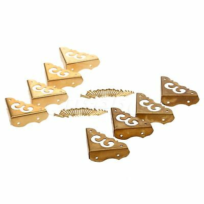 Cabinet Furniture Drawer Trunk Plate Corner Brass Guard Hardware Chinese Style