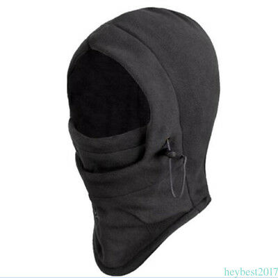 Black Thermal Balaclava Hood Outdoor Swat Ski Winter Windproof Face Mask Hat CF2