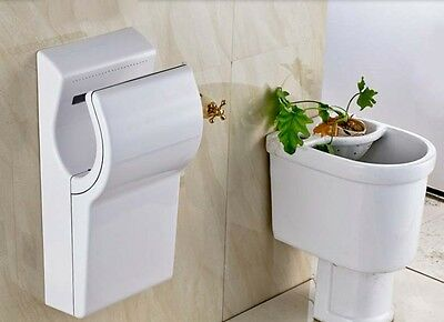 New White Wall Mounted Automatic Induction Quick Drying Hand Dryer Machine