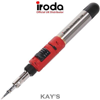 PRO IRODA SOLDER PRO 150 GAS SOLDERING IRON WITH REFILLABLE FUEL CELL 30-125w