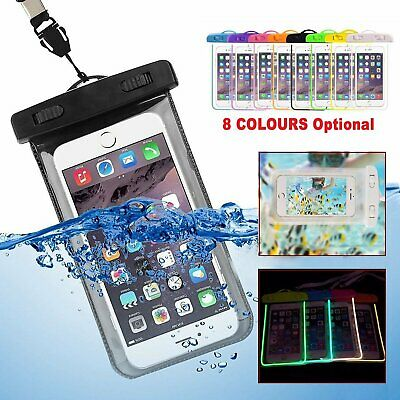 Underwater Fluorescent Silicone Waterproof Bag Case Dry Pouch for Mobile Phone