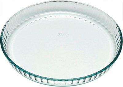 Pyrex Flan/Quiche Dish 27cm or  24cm Glass Fluted High Quality