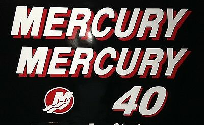 Mercury Outboard  90 HP - 25 hp Marine vinyl  decal set 25 - 90 hp pick your hp