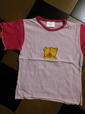 tee-shirt rose     fille taille 92cm