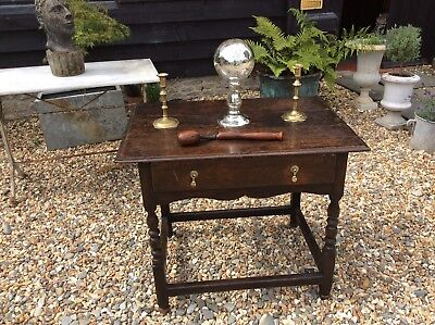 Period Oak Side Table 17th 18th Century Sitting Room Hall Lamp Table
