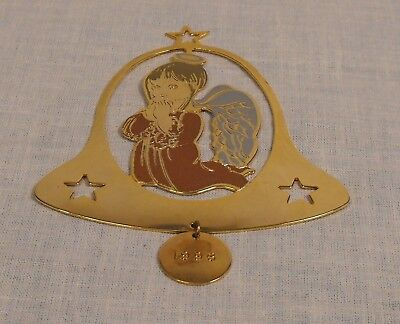 Vintage G.DUCHIN  1979 Bell with Angel Ornament  Signed . Made in U.S.A.