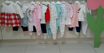3/6 Months  Baby Girls Clothes Bundle All Mixed Brands