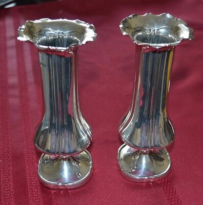 Mouse over image to zoom A-PAIR-OF-SOLID-SILVER-EDWARDIAN-VASES-1902  A-PAIR-OF