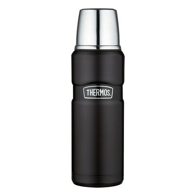 THERMOS Stainless King Isolierflasche / Thermosflasche Schwarz matt 0,47 ltr.