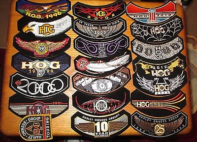 Lot Of 21 Harley Davidson Patches 1996-2017 New