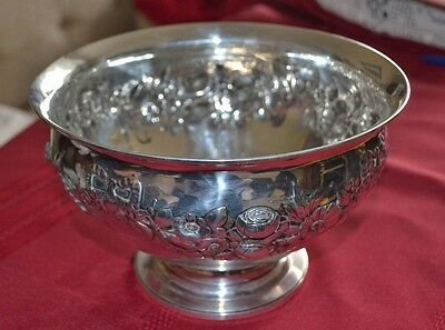 A Stunning Victorian Solid Silver Fruit Bowl.