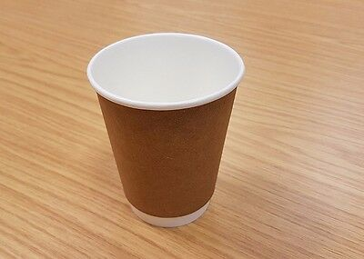 PAPER COFFEE CUPS 8oz DOUBLE INSULATED 500 cups & Free Next Day Delivery