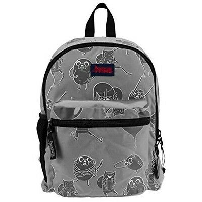 Adventure Time Kids Jake Backpack Book Bag - 16x10x3 in - Grey